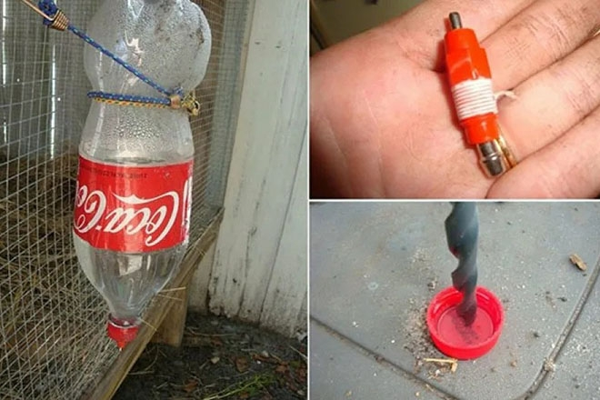 Поилка из бутылки своими руками